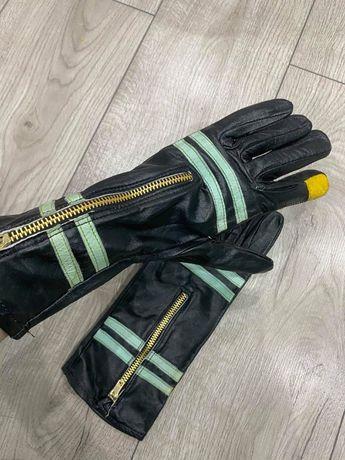 Skórzane rękawiczki motocyklowe Rozmiar 10