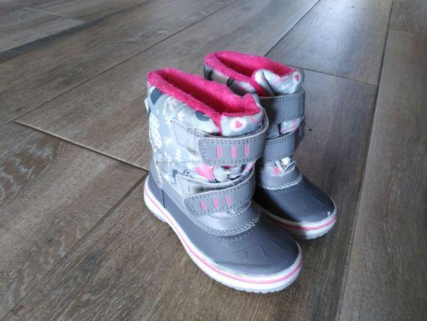 Buty buciki zimowe rozmiar 25 kozaki dla dziecka dziewczynki