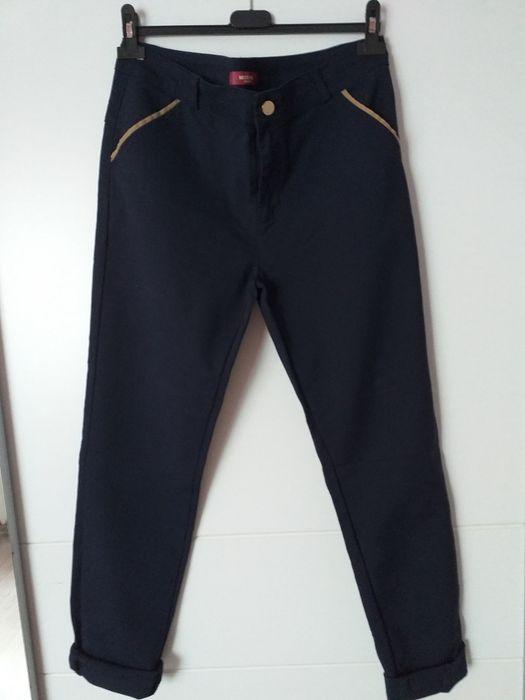 Spodnie materiałowe granatowe damskie Radomsko - image 1