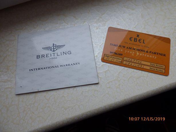 EBEL Breitling ,certyfikaty