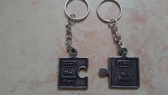 Breloczek do kluczy Lepsza Połowa- Druga Połowa