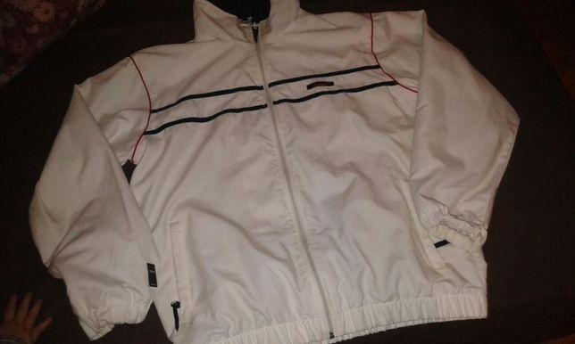 Bluza kurtka dresowa Dunlop M biała niezniszczona Wiosna