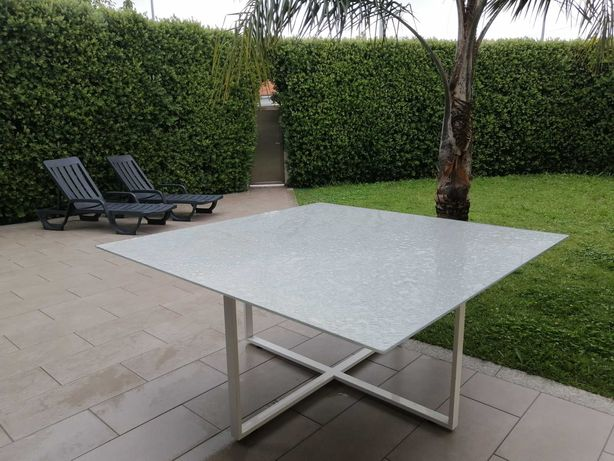 Mesa Exterior design Italiano 1500x1500x750mm (Envio Grátis)