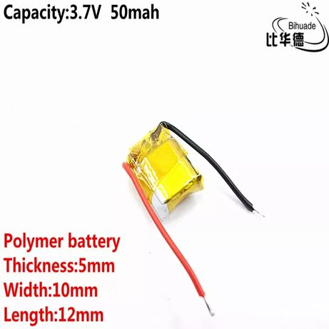 50мАч Батарея наушник аккумулятор 501010 Bluetooth i7 i10 i12 tws 3,7В