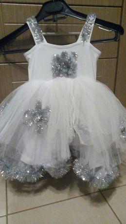 Платье снежинки р92-98-104
