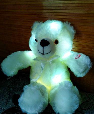 ПОДАРОК! Мишка светящийся светодиодный плюшевый, игрушка и ночник