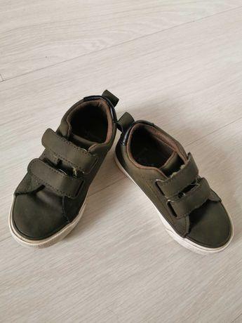 Eleganckie buciki adidaski dla chłopca zielone eko skórka 26