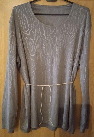 Bluzka popielata z długim rękawem