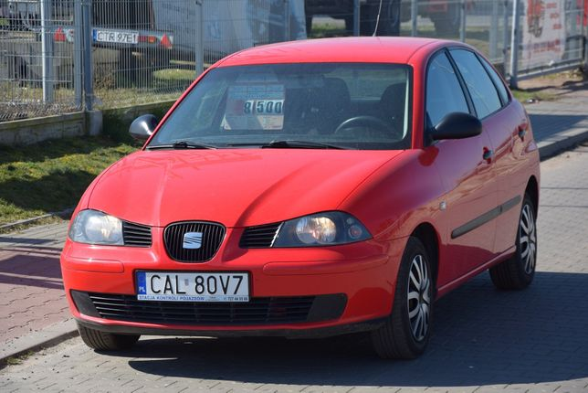 Seat Ibiza 1.2 benzyna 5-drzwi Klima 2005 Zarej. w Polsce KREDYT