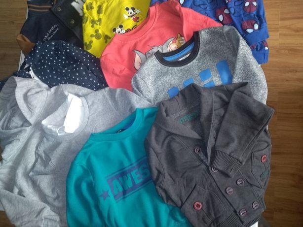 10 bluz w rozmiarze 98/104cm
