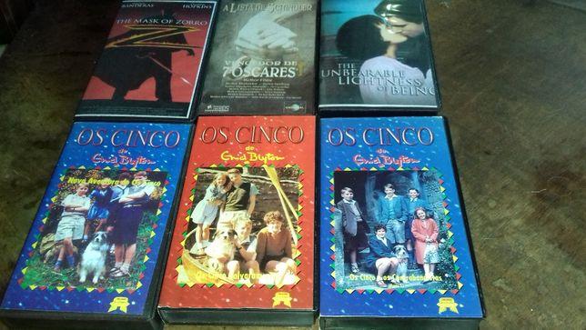 Pack de 6 filmes VHS