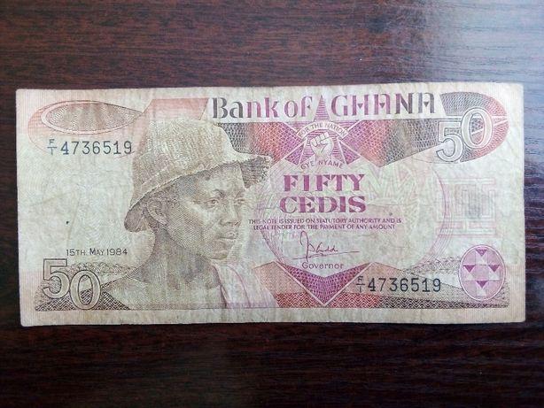 Banknot 50 cedi Ghana