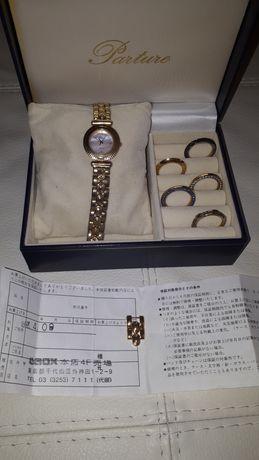 Японские часы Parture позолота со сменными накладками