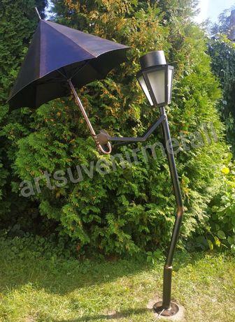 Заботливый, вежливый кованый фонарь с зонтом Уличное освещение.