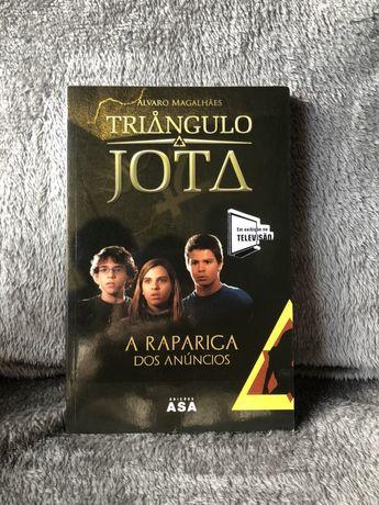 """Livro """"Triangulo Jota - A Rapariga dos Anúncios"""" - Alvaro Magalhães"""