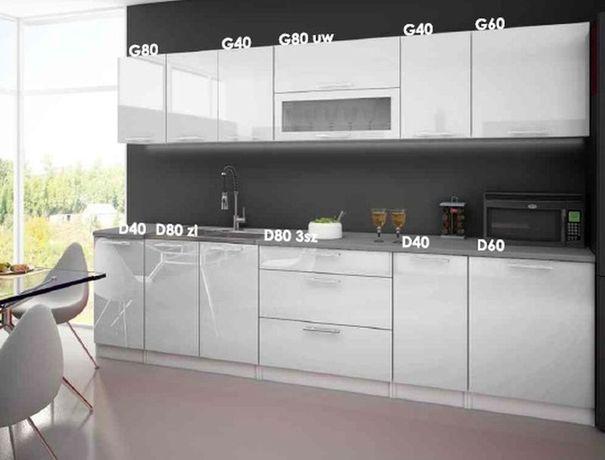 meble kuchenne Emilia biały połysk z możliwoscią rozbudowy HIT