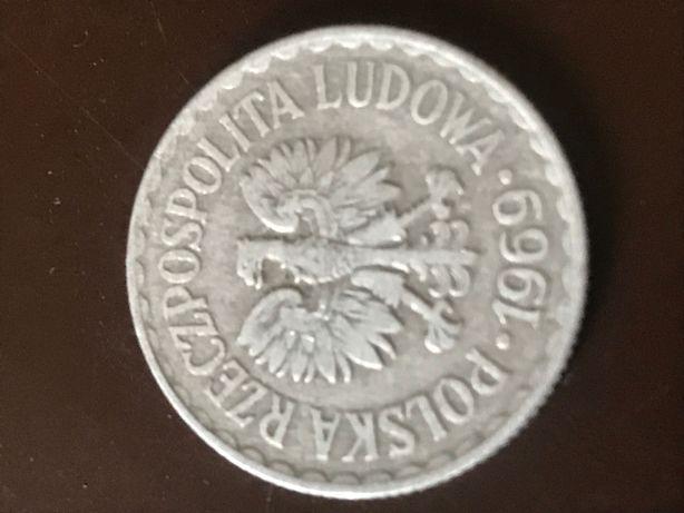 Moneta 1 zł PRL 1969
