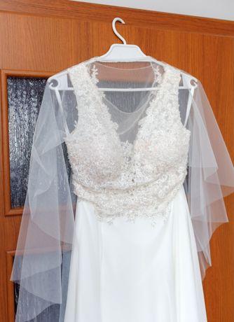 Suknia ślubna ecru 36-38