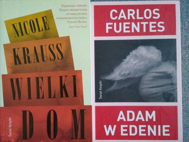 Ksiazki Nicole Krauss WIELKI DOM Carlos Fuentes ADAM W EDENIE