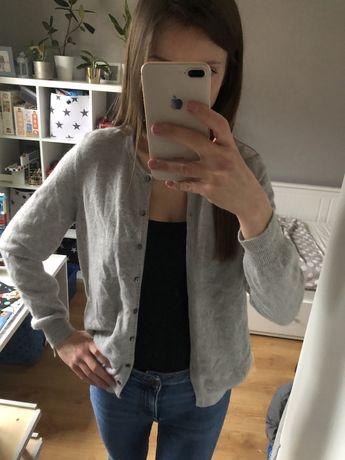 Szary kaszmirowy sweter 100% kaszmir kardigan Marks&Spencer