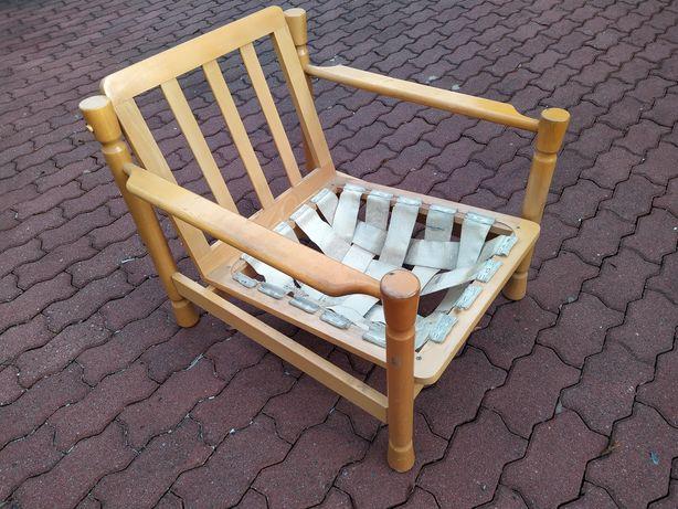 Fotel drewniany radomsko retro vintage PRL