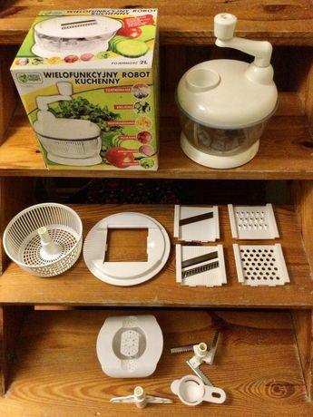 Wielofunkcyjny robot kuchenny manualny - cały zestaw