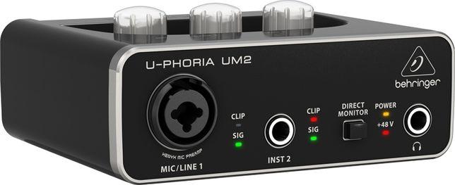 Interfejs audio USB Behringer U-PHORIA UM2