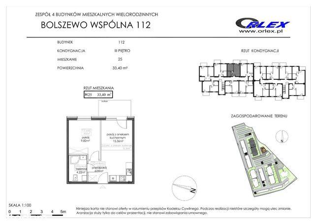 Słoneczne mieszkanie. Bolszewo ul. Wspólna 112/25