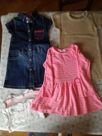 Paka ubrań dla dziewczynki r. 98