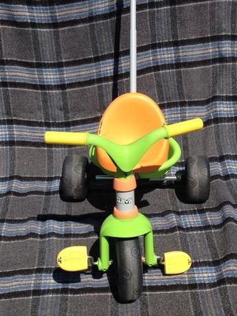 SMOBY. Rowerek trzykołowy trójkolorowy dla dzieci 15-36 miesięcy.WARTO