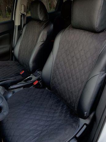Автомобильные чехлы накидки на сиденья черные из Алькантара
