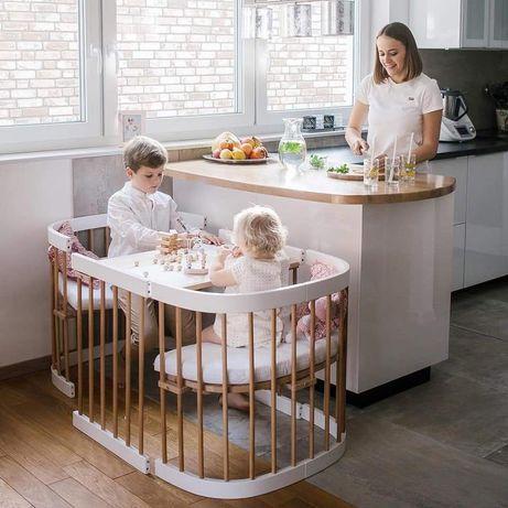 Ліжко дитяче овальне 9 в 1 ANV + Maxi Kristall біла