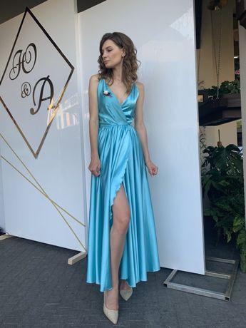 Шелковое платье, випускное платье, плаття шовк, випускне плаття