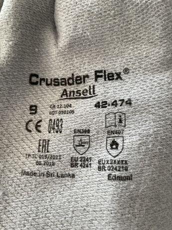 Luvas crusader Flex Ansell tamanho 9 resistentes calor 35cm