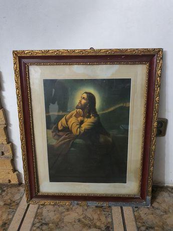 Stary obraz jezus modlacy się w ogrójcu