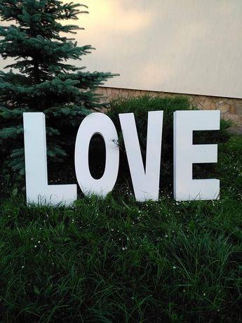 Атрибутика для весілля, декор,букви LOVE