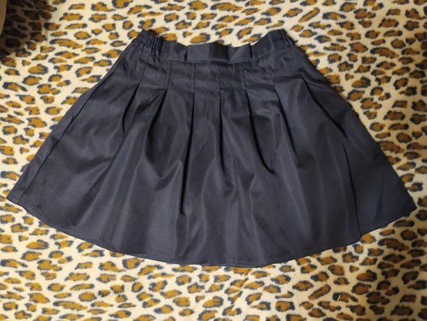 Школьная юбка Piccolo l бантик черная. Р.146
