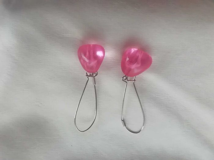 Brincos bijuteria cor de rosa Moledo E Cristelo - imagem 1