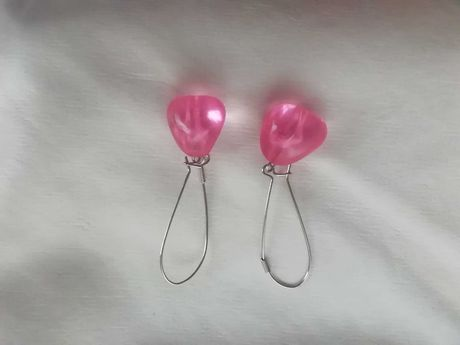 Brincos bijuteria cor de rosa