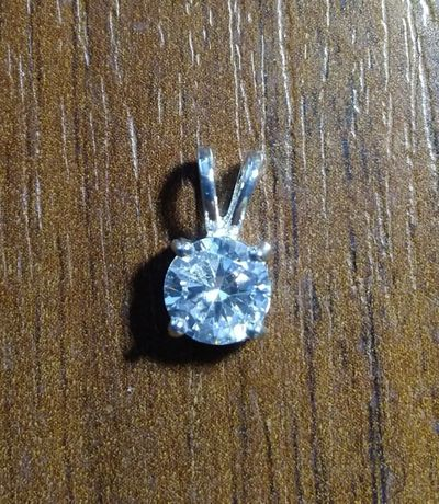 Серебрянная подвеска 925 пробы серебряный кулон с камнем серебро 925