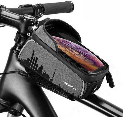 Велосипедная сумка на раму RockBros 017-5 сенсорная, водонепроницаемая