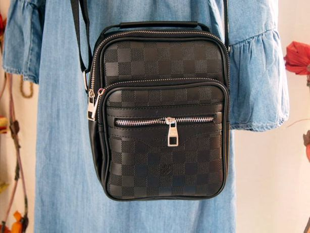 Louis Vuitton torba listonoszka uniseks męska damska czarna torebka
