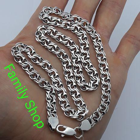 Серебряная цепочка мужская на подарок Серебро 925 проба цепь на шею