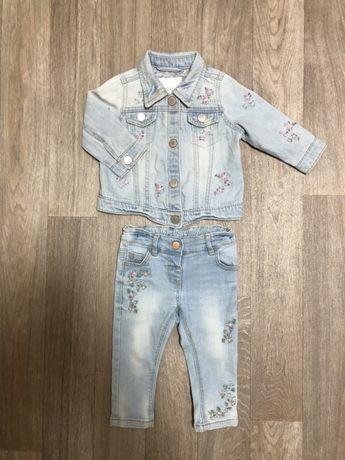 Продам джинсовый комплект на девочку NEXT