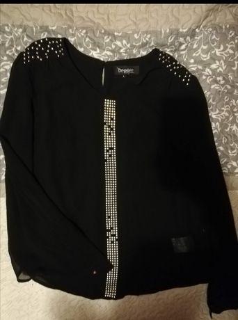 Bluzka elegancka czarna L