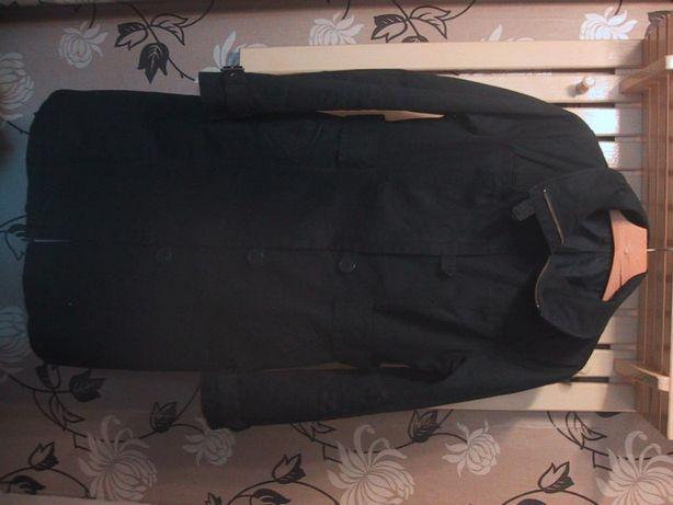 H&M.Granatowy płaszcz.Klamry.Wys.koł.Jesień.XL.Wysyłka