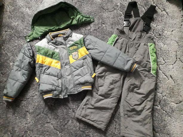 Kombinezon 3 części kurtka kamizelka spodnie narciarskie r. 104 Smyk