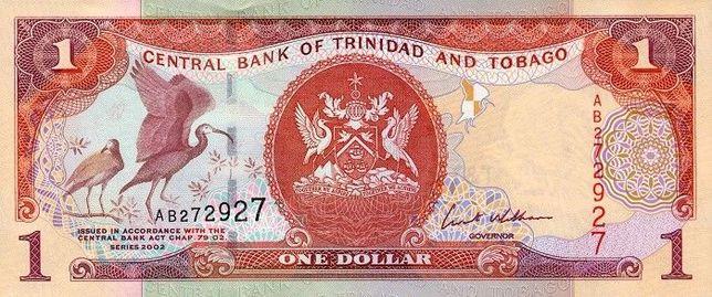 Банкноты 1, 5, 10, 20, 50 TTD страны Тринидад и Тобаго