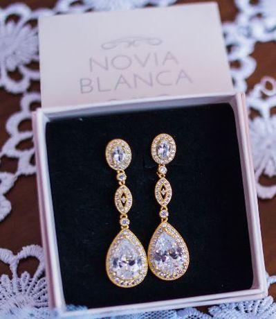 Kolczyki Novia Blanca LEA GOLD
