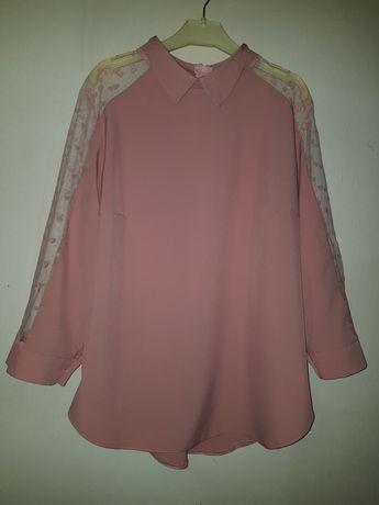 Жіноча сорочка з прозорими рукавами